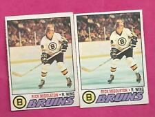 2 X 1977-78 OPC  # 246 BRUINS RICK MIDDLETON  CARD  (INV# C0441)