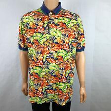 Payne Stewart Mens Short Sleeve Polo Shirt Multicolor Palm Leaf LT Large Tall