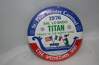 Vintage St. Paul Minnesota 1976 Winter Carnival Button Titan Prince North Wind