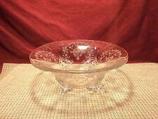 Vintage Fostoria Crystal Etched Floral & Vine 4 Toed Centerpiece Bowl