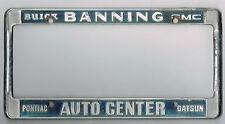 RARE Banning California Datsun GMC Buick Pontiac Vintage License Plate Frame