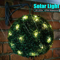 20 LEDs Solar Garten Buchsbaumkugel Buchsbaum Kunstbaum