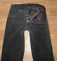 """lange """" GIPSY """" LEDERJEANS / Velours- Lederhose in schwarz Größe W30"""" /L35"""""""