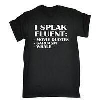 I Speak Fluent Movie Quotes Sarcasm Whale T-SHIRT Movie Comedy Gift Birthday