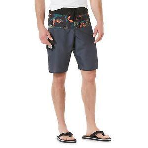 Adam Levine Men's Cargo Swim Trunk Shorts Black Tropical Medium Large X-Large
