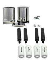 Imperial Berkey Water Filter Purify 4 Black 4 PF-2 Stainless Steel Spigot Clean