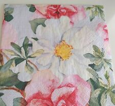 4 x Napkins for decoupage craft flowers floral