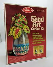 NOS  70's Avalon Sand Art Garden Kit Vintage Crafts