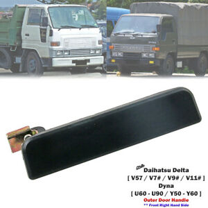 Black Front Right Outer Door Handle For Daihatsu Delta V57 Dyna 1985-95