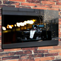 F1 Petronas Lewis Hamilton Printed Canvas Picture Multiple Sizes 30mm Deep