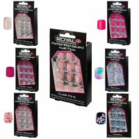 ROYAL FALSE  NAILS   FULL Coverage  24 In Packet With Glue  Choose Your Shade*