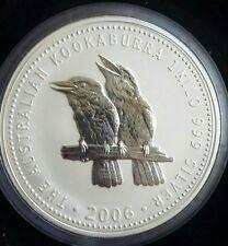 2006 1 kilo kg Kookaburra - 999 Fine Silver Bullion Coin - Perth Mint