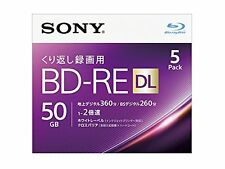 Sony Blu-ray 50GB BD-RE DL 5pack 2x Blank Discs bluray Dual Layer Import Japan