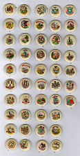 47 Different Sweet Caporal Cigarette United States State Seal Pinback Buttons