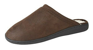 Mens Brown Mule Slippers by Zedzz