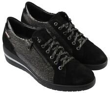 Ladies Casual Lace Up Trainer Shoe Mephisto Patsy Black UK Size 7