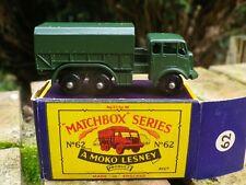 MATCHBOX LESNEY MOKO 62 GENERAL SERVICE LORRY neuf en boite d'origine neuve
