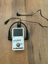 TC Electronic Polytune Chromatic Tuner True ByPass Comes With Cables