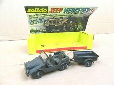 Solido ancien : Jeep Mercedes et remorque réf.212 / 213 + diorama