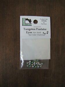 Fly Tying-Hareline Tungsten Predator Eyes - Small - Nickel/Chartreuse