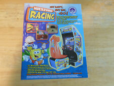 NICKTOONS RACKING     ARCADE  VIDEO GAME  FLYER