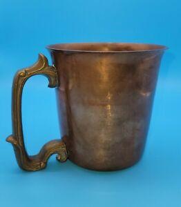 Vintage WMC Winkler Mills Craftsman Heavy Copper & Brass Tankard Mug Stein USA