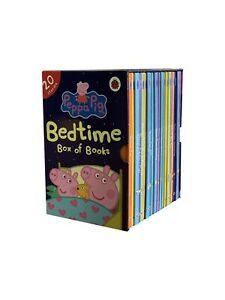 Peppa Pig Bedtime Stories: 20 Hardback Children Books Collection Set By Ladybird