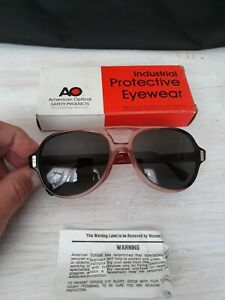 Vintage American Optical AO Tinted Lenses Z87 Flexi Fit Safety Glasses
