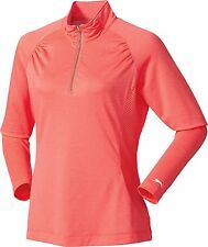 New with Tags! Slazenger Golf Tech 1/4 Zip Golf Pullover Bright Coral Sml, Lrg