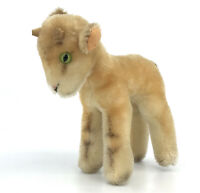 Steiff Zicky Goat Mohair Plush 14cm 5.5in Wooden Horns 1960s no ID Vintage