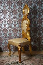 EN PROMO: Imposante chaise à haut dossier doré à la feuille d'or d'un château