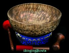 "New Tibetan Singing Bowl: Jambati 14 1/2"", F2 & C4. VIDEO, Hear before you buy."