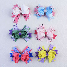 New Wholesale 6pcs 4.5inch Baby Girl  Bow Boutique Hair Bows Clip 2821-1-6-K