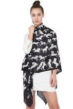 Virginia Johnson style Designer Hand printed Scarves - 100% Wool - Horse