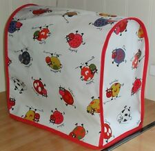 Red Edged Cartoon Cows Vinyl Cover for KitchenAid and Kenwood kMix Food Mixers