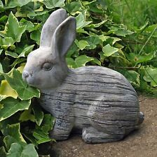 Rabbit Garden Ornament Cute Statue 20 Cm Grey Bunny 2.1kg Moulded Cement New