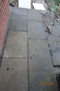 Granite chip paving slabs,  Nottingham City Council Slabs.   Good condition.