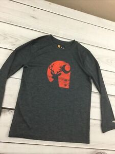 Carhartt Kids Force Long Sleeve Deer Shirt Size M 10-12