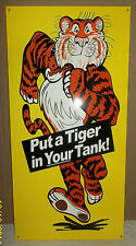"Great ""Tiger In Your Tank"" Sign, Brilliant Colors & Nice Graphics- 1960's Icon."