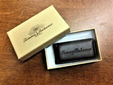 """Tommy Bahama Magnetic Leather Money Clip 3"""" NEW IN BOX"""
