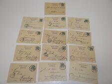 13 Postkarten Deutsche Reichspost nur Bahnpost 1898 gelaufen K10