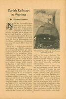 1940 Danish Railways During Wartime WWII German Invasion of Denmark Nazi
