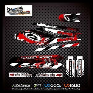 Beta Evo 80 Michelin Renthal Splat Kit Red Decal Sticker Trials (722)