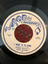 """CHARLIE"" (CHARLES) BROWN & AMOS MILBURN 45 Want To Go Home / Educated Fool ACE"