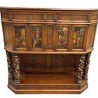 Cupboard, Renaissance Revival Court Cupboard, Painted, Vintage / Antique