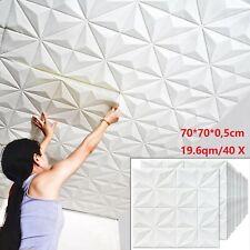 19.6qm/40 Stück 3D Wandpaneele Deckenpaneele Deckenplatten Platten Wandplatte 70