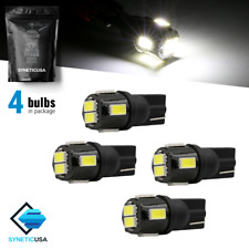 4x T10/912 6-LED White License Plate Interior Side Light Bulb for Avalanche&more