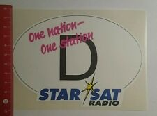 Autocollant/sticker: One nation one station d star sat radio (291016198)