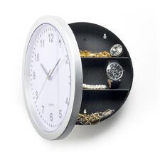 Novelty Wall Clock Diversion Safe Secret Stash Money Cash Jewelry Security Lock