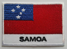 NATIONAL OLYMPIC COUNTRY FLAG (SMALL) SEW ON / IRON ON PATCH:- SAMOA
